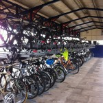 two tier cycle parking racks at Twyford Station - lq