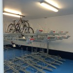 Sheffield station cycle hub two tier 3