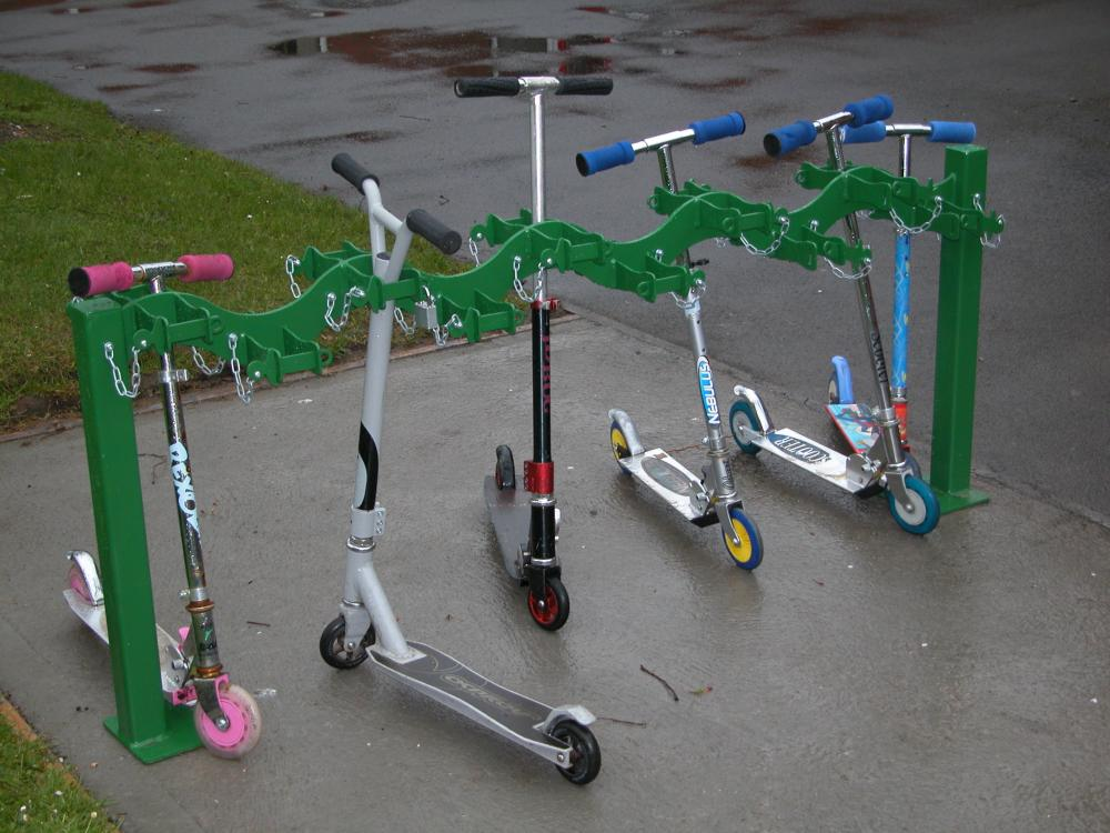 Double sided Scooter rack for 20 Scooters