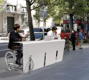 Bike rack desk