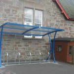 Barratt Cycle Shelter at Kettins Primary School
