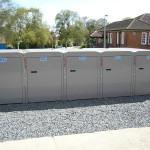 Double cycle lockers