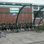 Hamble shelter with scooter parking