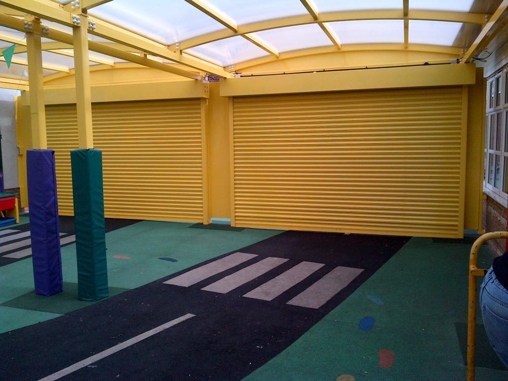 Outdoor Classroom Shutter Doors Lock It Safe