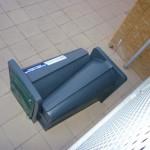 Overhead view plastic cycle lockers