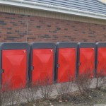 Red Plastic Cycle Lockers