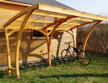 Wooden Oxford Cycle Shelter