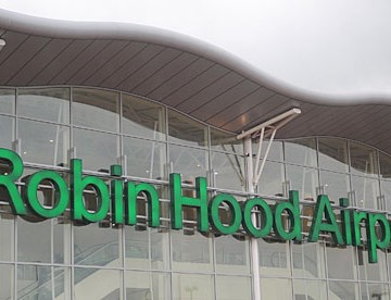 Robin Hood Airport Sign