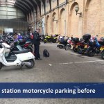 York station motorcycle parking before