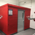 Cycle Hub changing rooms at Doncaster Station