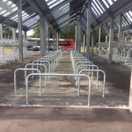 Cycle Racks at Cambridge North Station