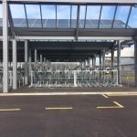 Two Tier Racks at Cambridge North Station