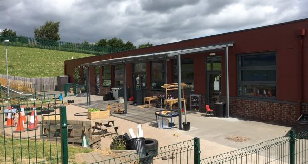 Lockit-safe create bespoke canopy for Foxhill Primary School