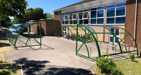 Hamble cycle shelters installed at Toll Bar Academy