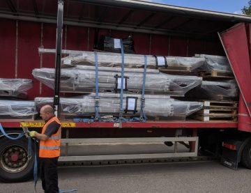 Transport of cycle shelters to Isle of Man